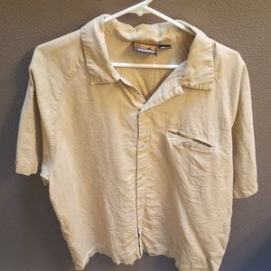 L organic ss hemp Patagonia button up shirt